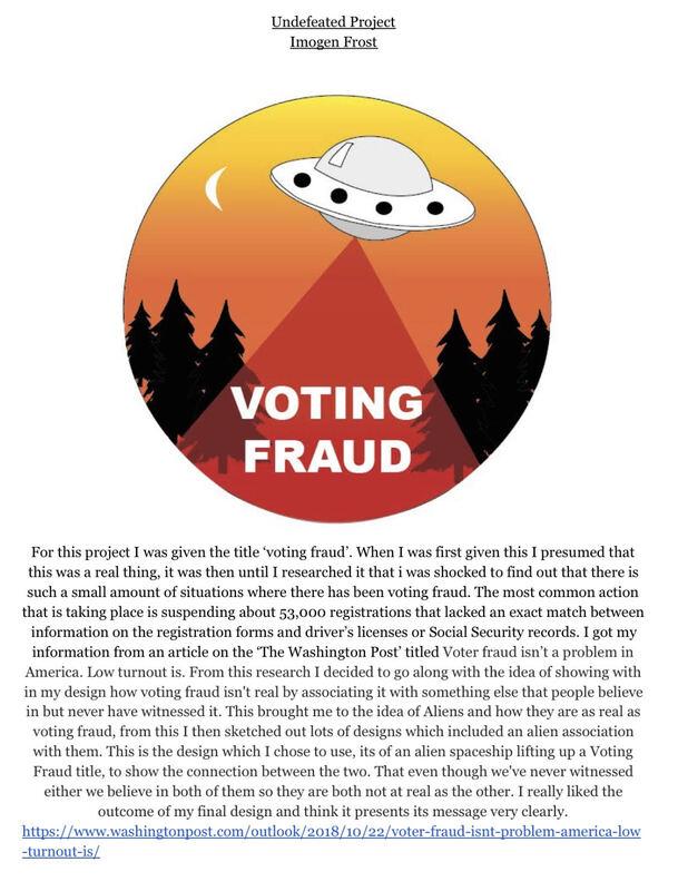Voter fraud UFO